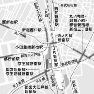 駅 西武 新宿 西武新宿駅が「近く」なる? 丸ノ内線直結の地下通路新設へ