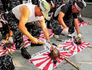 島根県「竹島の日」制定に対して、韓国で大規模抗議デモ