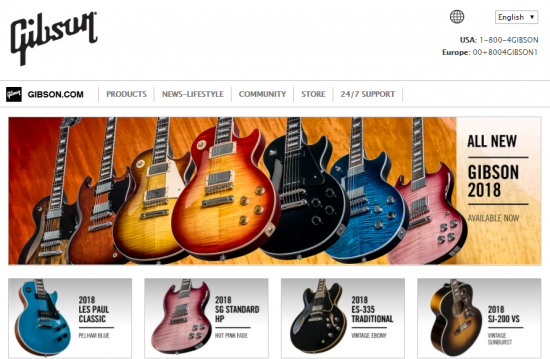 Gibson公式サイト http://www.gibson.com/